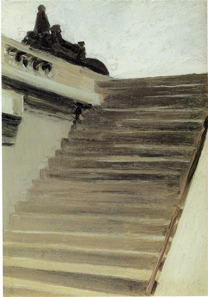 Steps in Paris - Edward Hopper