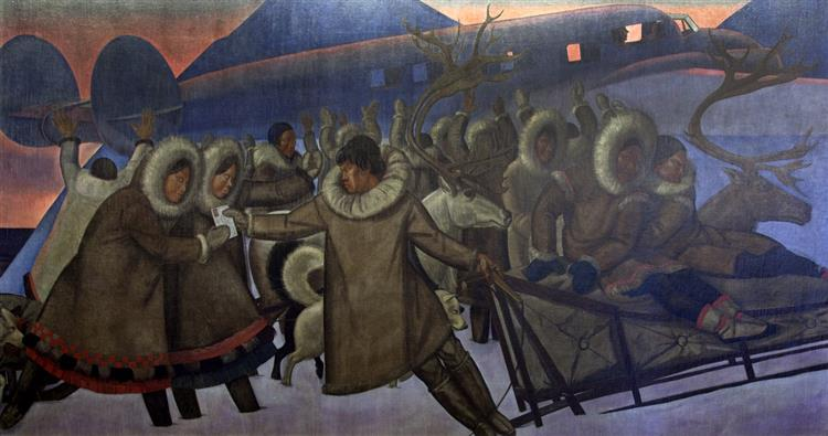 Mail Service in the Arctic - Rockwell Kent