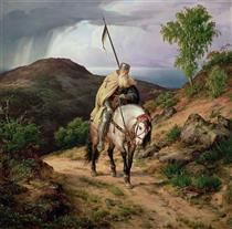 The Return of the Crusader - Carl Friedrich Lessing