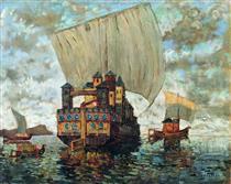 Barges - Konstantin Ivanovich Gorbatov