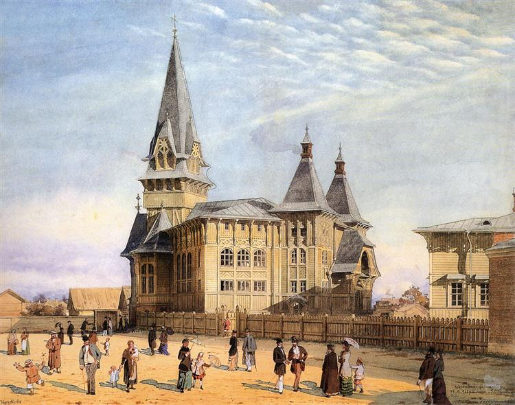 Lutheran church of Our Lady on St Petersburg Side, 1881 - Albert Benois
