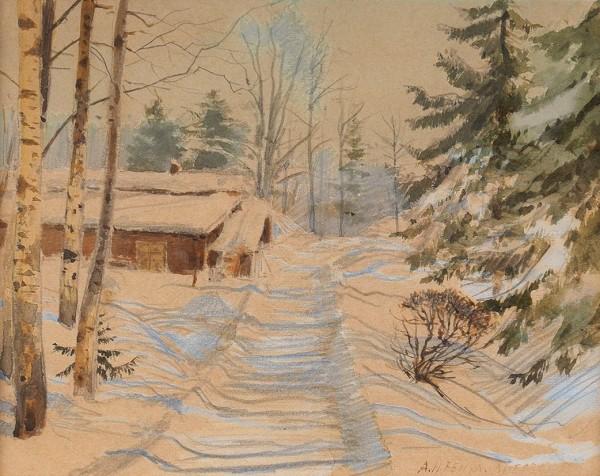 Winter Study in Ligov - Albert Benois