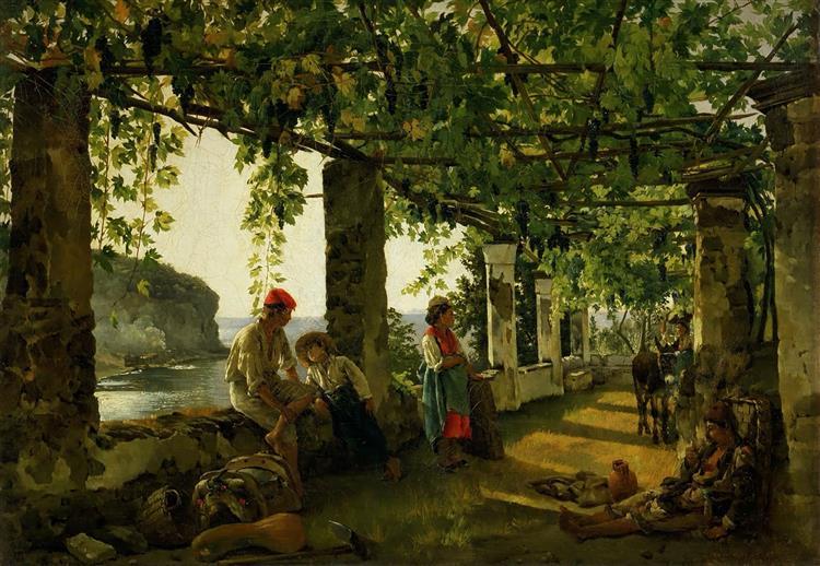 Veranda entwined with grapes, 1828 - Silvestr Shchedrín