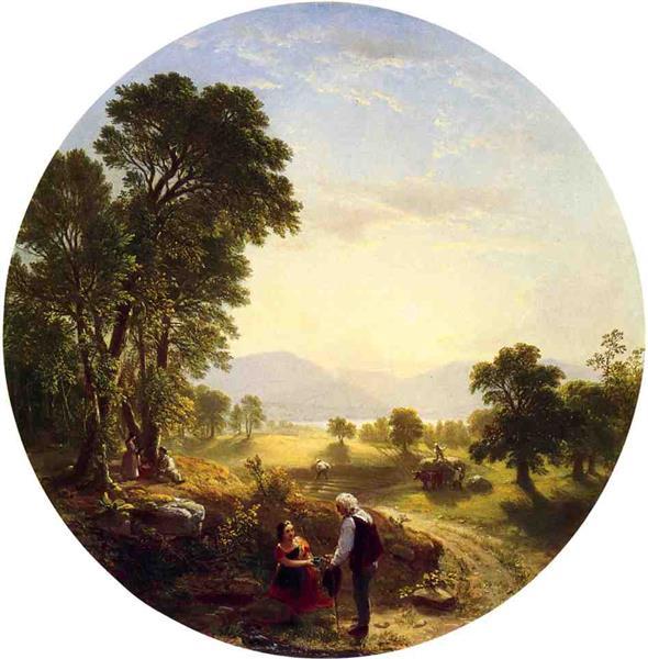 Hudson River Scene - Asher Brown Durand