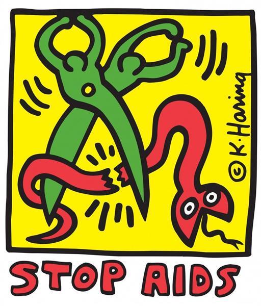 Stop AIDS, 1989 - Кит Харинг