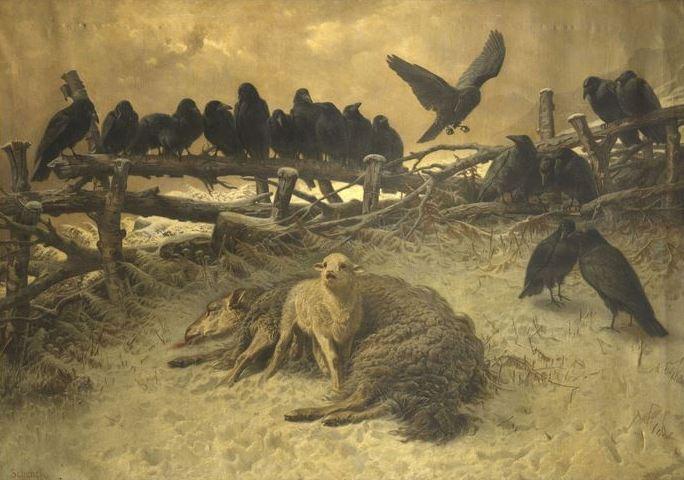 The Orphan, c.1885 - August Friedrich Schenck