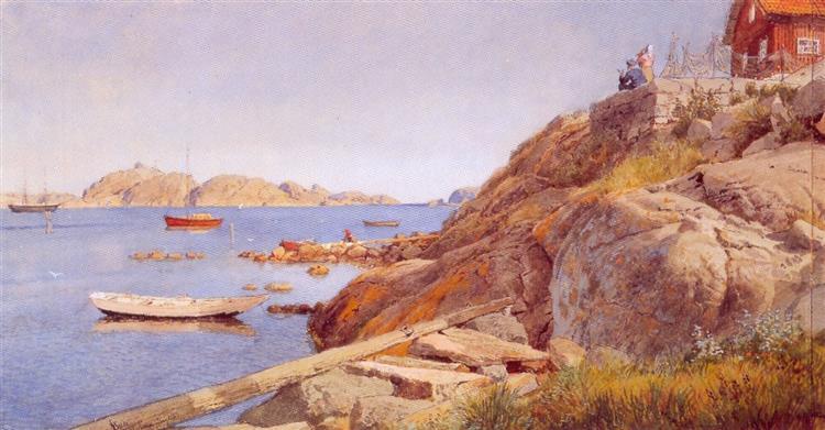 landskap Ved Stavern - Hans Gude