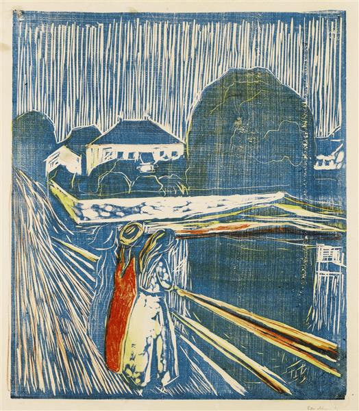 The Girls on the Bridge, 1918 - Edvard Munch