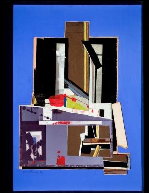 Composición Sobre Azul Añil, 1970 - Fernando García Ponce