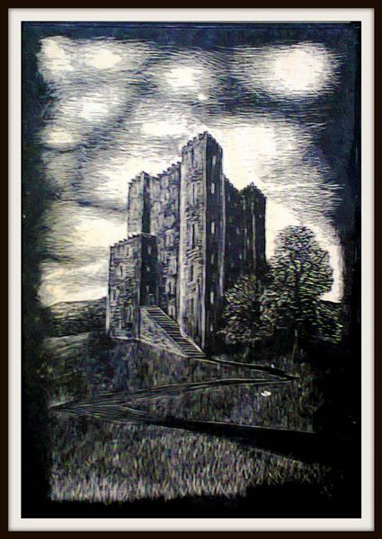 Scratch Board Rochester Castle by John Baroque D6tl4wh Pre - John-Baroque