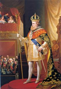 Peter II of Brazil in the opening of the General Assembly - Pedro Américo