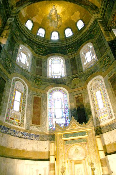 Hagia Sophia Altar, c.867 - Byzantine Mosaics
