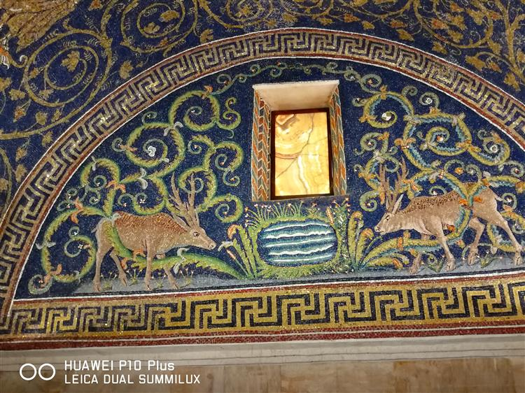 Lunetta Dei Cervi, c.425 - Byzantine Mosaics