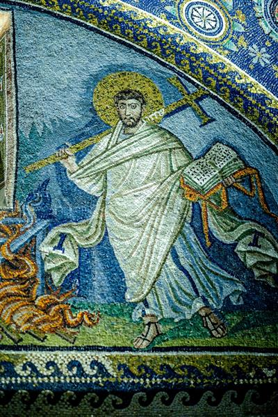 Martyrdom of St. Lawrence, 425 - Byzantine Mosaics
