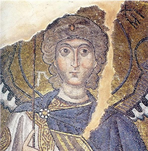 Archangel Michael, c.1056 - Byzantine Mosaics