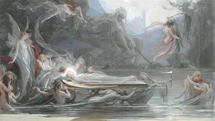Pohřeb Víly, 1888 - Maximilian Pirner