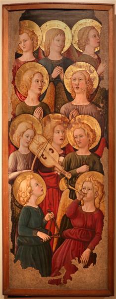 Cori di angeli musicanti,, c.1450 - Giovanni di ser Giovanni Guidi
