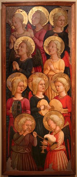 Cori di angeli musicanti, c.1450 - Lo Scheggia