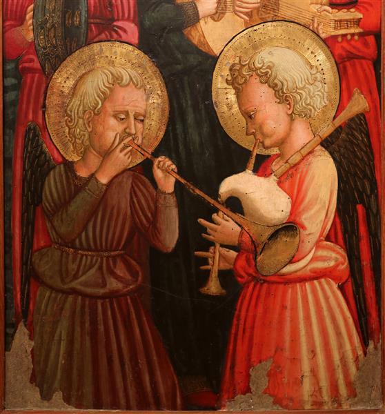 Cori di angeli musicanti, c.1450 - Scheggia
