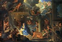 The Adoration of the Shepherds - Charles Le Brun