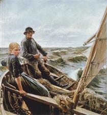 At sea - Альберт Эдельфельт