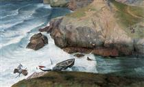 The Rescue of the Only Survivor of a Torpedoed Ship - Richard Eurich