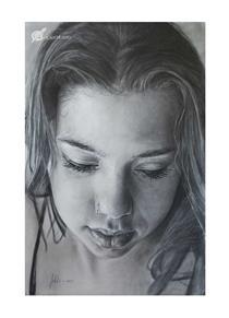 Retrato Grafito Sobre Lienzo - Soleto