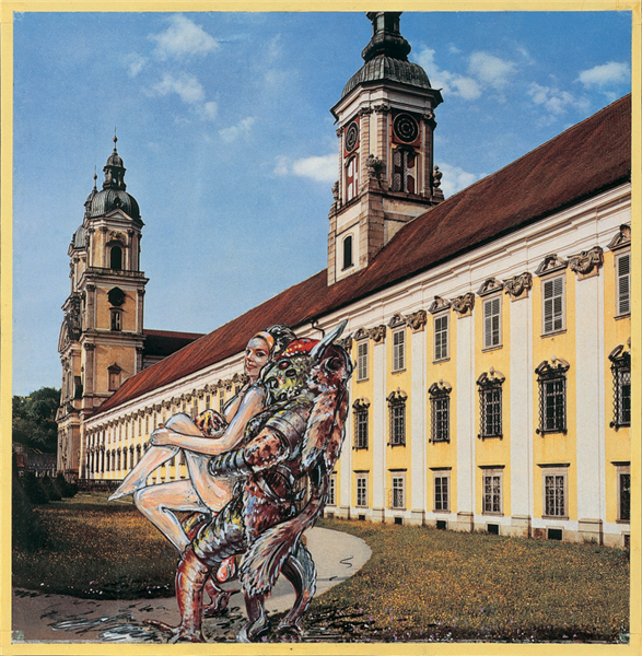 UPPER AUSTRIA, STIFT ST. FLORIAN (A GUIDE TO AUSTRIA FOR EXTRATERRESTRIAL BEINGS NO. 4), 1964 - 1965 - Christian Ludwig Attersee