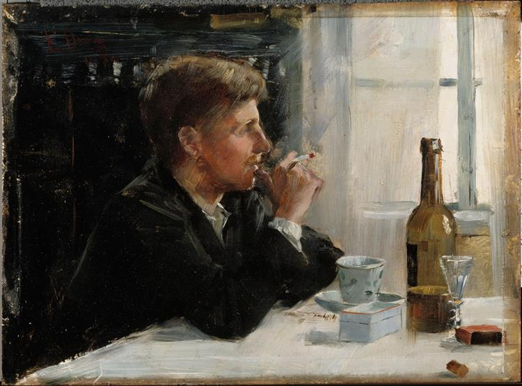 Seated Man at the Table, 1886 - Elin Danielson-Gambogi