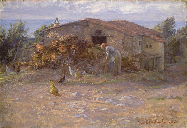 Stuga I Antignano, 1900 - Elin Danielson-Gambogi