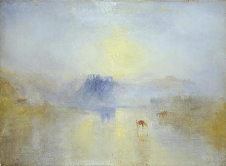 Norham Castle, Sunrise, c.1845 - Уильям Тёрнер