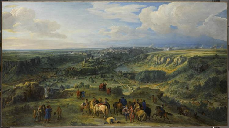 View of the City of Luxemburg from the baths of Mansfeld (taken on 3 June 1684), 1685 - 1686 - Adam Frans van der Meulen