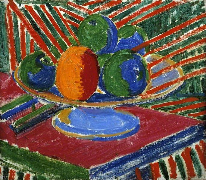 Fruit in a Dish, 1915 - Matthew Smith