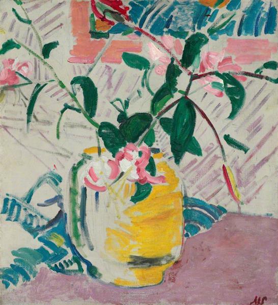 Lilies in a Jar, 1914 - Matthew Smith