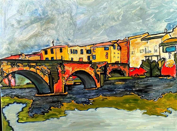 Limoux Le pont sur l'Aude, 2019 - Cricorps