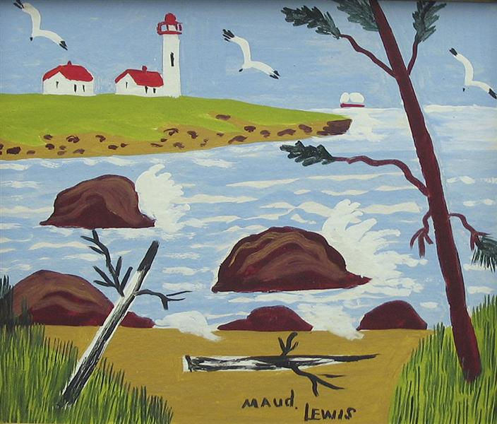 Lighthouse. Yarmouth County, c.1965 - Мод Льюис