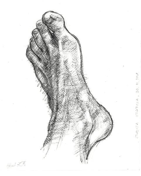 Foot study (30.11.1991.) - Alfred Freddy Krupa