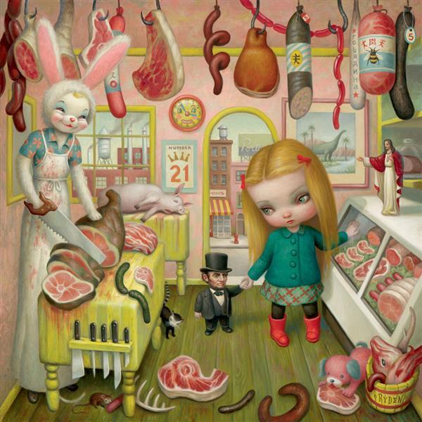 The Butcher Bunny, 2000 - Mark Ryden