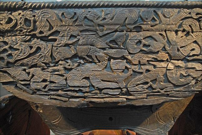 Cat Carvings on the Oseberg Cart - Північне мистецтво