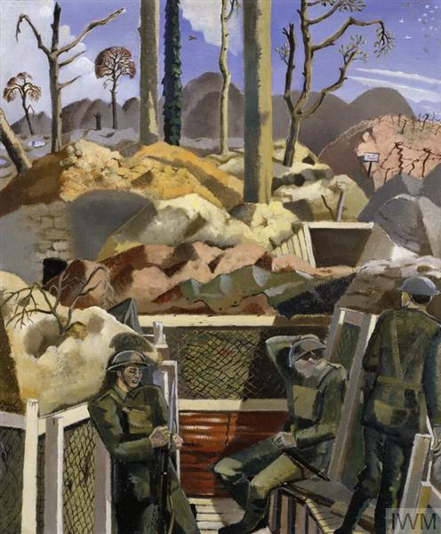 Spring in the Trenches, Ridge Wood, 1917, 1918 - Paul Nash