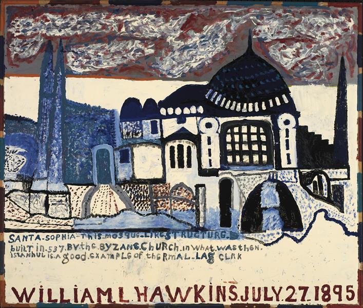 Santa Sophia Mosque, c.1980 - William Hawkins