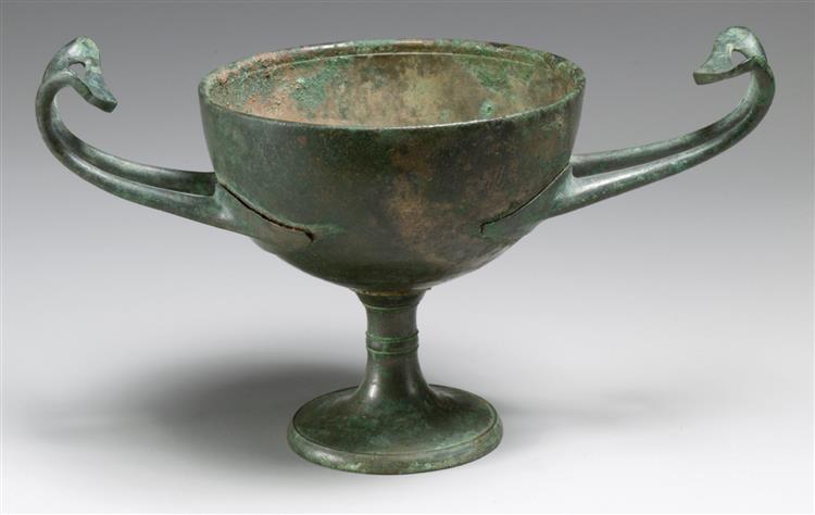 Bronze Kylix (drinking Cup), c.300 BC - Кераміка Стародавньої Греції