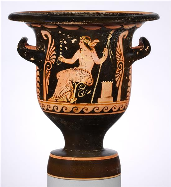 Terracotta Bell Krater (mixing Bowl), c.325 BC - Ancient Greek Pottery
