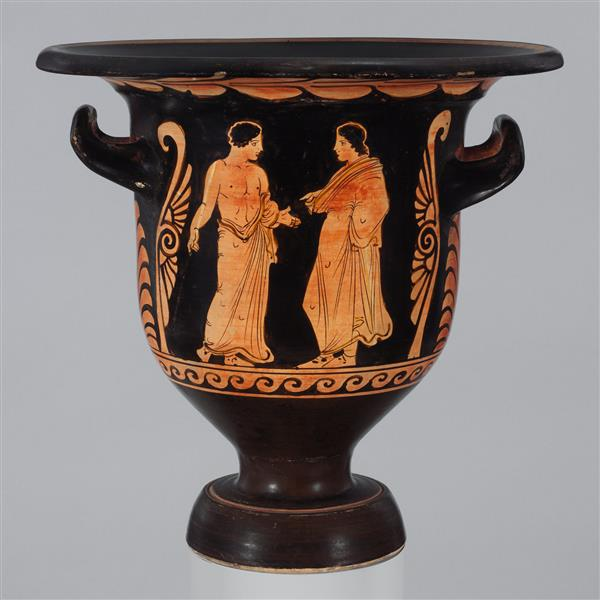 Terracotta Bell Krater (mixing Bowl), c.350 BC - Ancient Greek Pottery