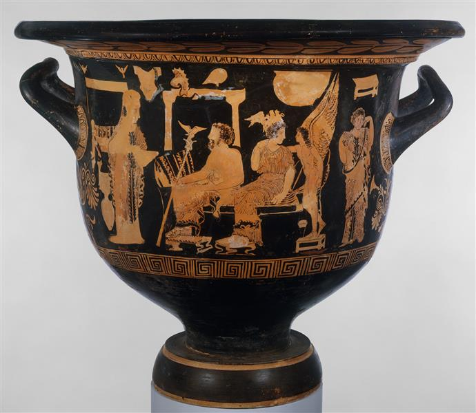 Terracotta Bell Krater (mixing Bowl), c.380 BC - Ancient Greek Pottery