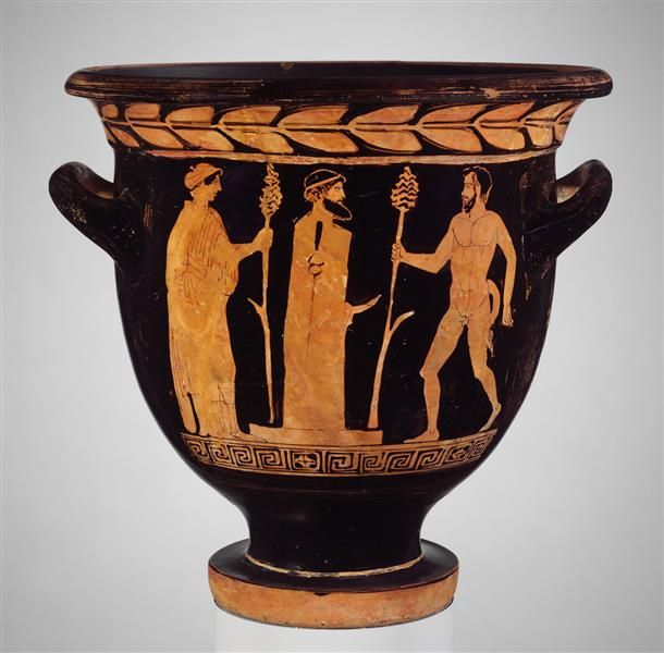 Terracotta Bell Krater (mixing Bowl), c.410 BC - Ancient Greek Pottery