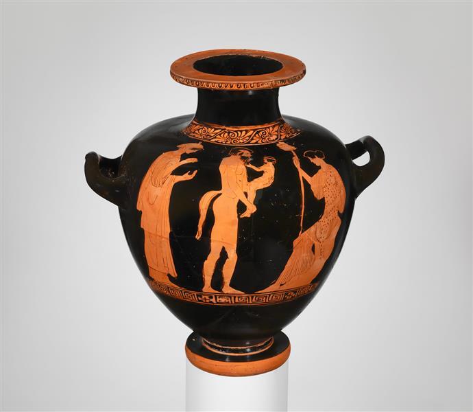 Terracotta Hydria - Kalpis (water Jar), c.450 BC - Ancient Greek Pottery