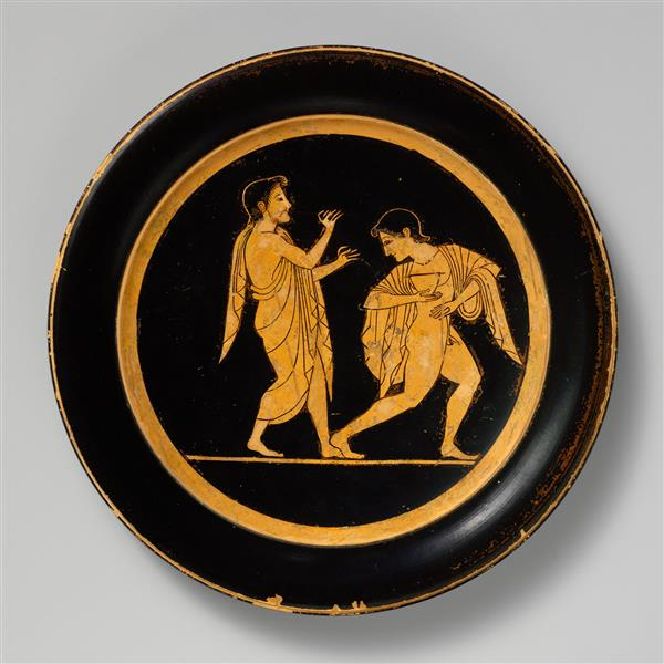 Terracotta Plate, c.510 BC - Ancient Greek Pottery