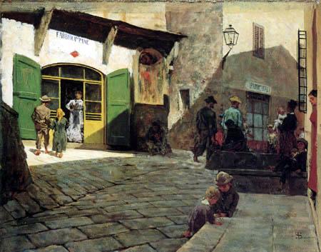 Bakery in Settignano - Telemaco Signorini
