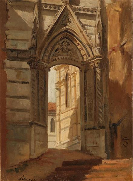 The Cathedral at Siena - Telemaco Signorini